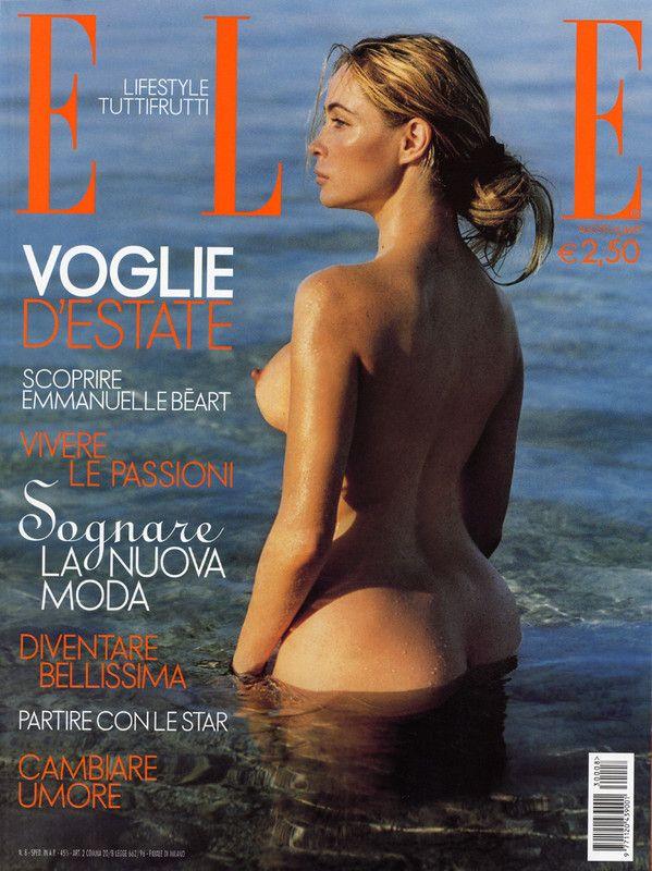 """Emmanuelle Béart nue pour """"ELLE"""""""