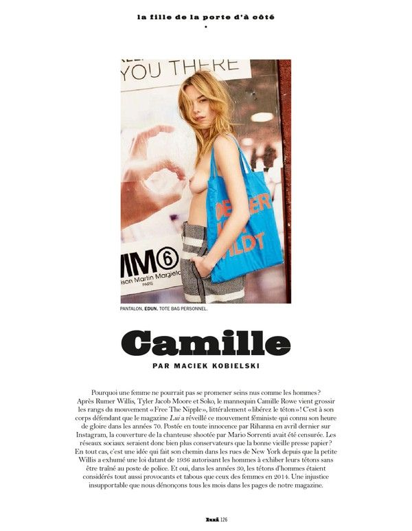 "Camille Rowe ""LUI"" magazine (2014) HQ"